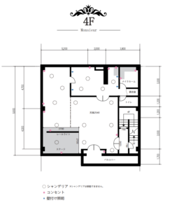 撮影スタジオGALLRY-O16ムッシュ平面図