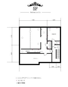 撮影スタジオGALLERY-O17平面図